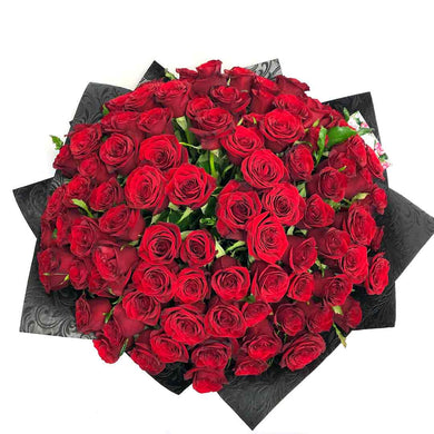 100 red roses bouquet flower delivery by florist in Wellington city New Zealand valentines day