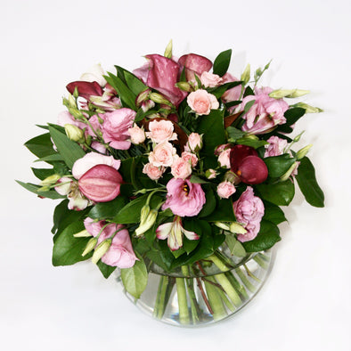 Pink Posy of fresh flowers - Flowers Bouquet Wellington NZ - Flower Shop Florist Wellington NZ