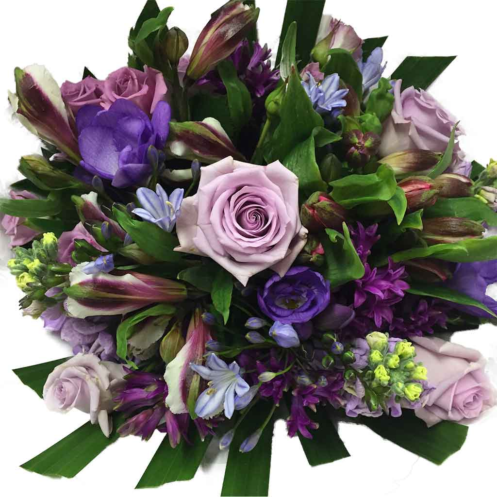 Blue Purple Flowers Bouquet Delivery Flower Shop Florist Wellington