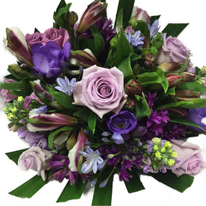 Blue and Purple mix Flowers Bouquet - Flower delivery Wellington - Flower Shop Florist Wellington New Zealand