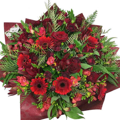 Red Flower Bouquet - flower delivery Wellington - Flower Shop Florist Wellington New Zealand