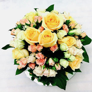 Roses in Vase - Roses Flowers Posy in Vase Wellington NZ - Flower Shop Florist Wellington NZ