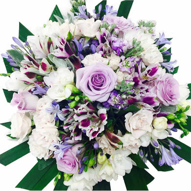 White purple flowers bouquet -  flower delivery wellington - florist in Wellington New Zealand