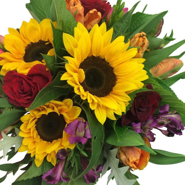 Sunshine Bright Flowers - Sunflowers Flower Bouquet - Flower Shop Florist Wellington NZ
