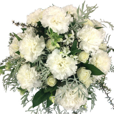 White fresh flowers in Vase - White Flowers in Vase - Flower Shop Florist Wellington NZ