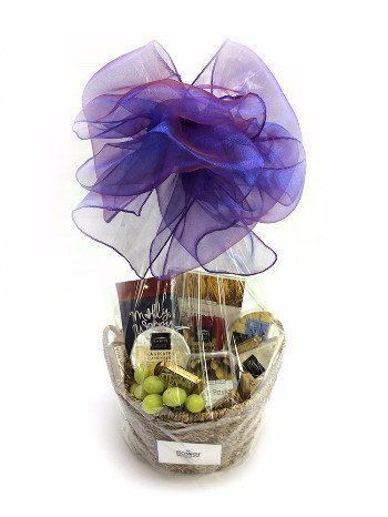 Cheese and Crackers Gift Basket - Gourmet Gift Hamper Baskets - Flower Shop Florist Wellington NZ