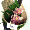 Kiwiana Flax Wrap Orchid Flower - Orchid Flowers Wellington NZ - Flower Shop Florist Wellington NZ