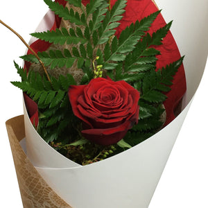 Single Red Rose - Roses Flowers Wellington NZ - Flower Shop Florist Wellington NZ - 1