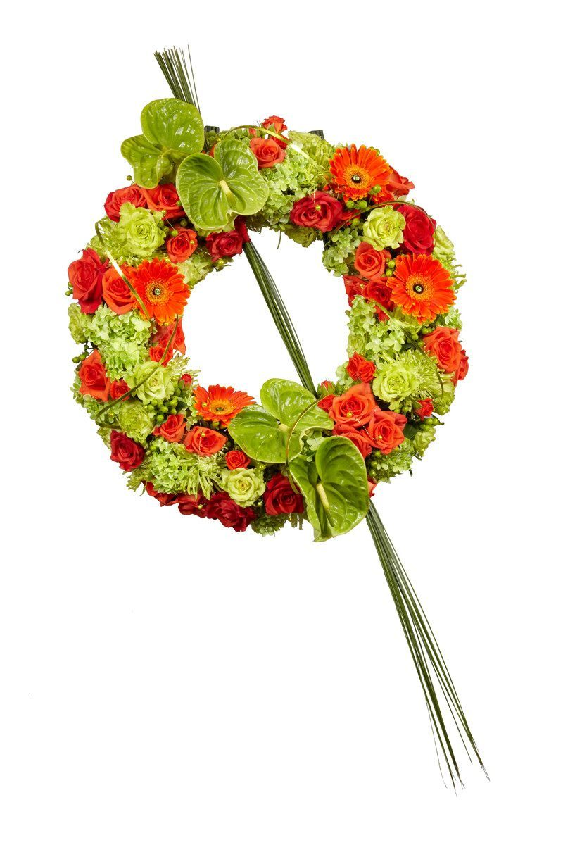 Wreath Bright colours - Wreath Flowers Wellington, New Zealand flower delivery funeral home