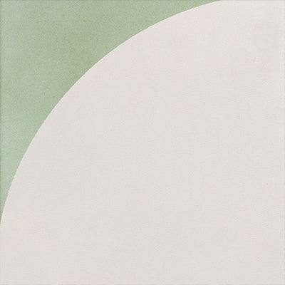 WATERCOLOR VERDE + CREAM CURVE DECO