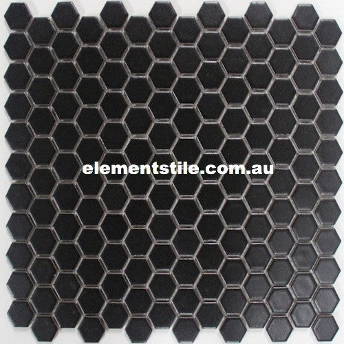 hexagonal-mini-black-matte-porclain-mosaic-23mm-elements-tile-and-stone-au