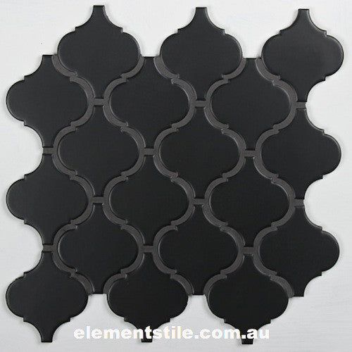 arabewque-lantern-matte-black-glazed-porcelain-mosaic-tile-elements-tile-and-stone-pty-ltd