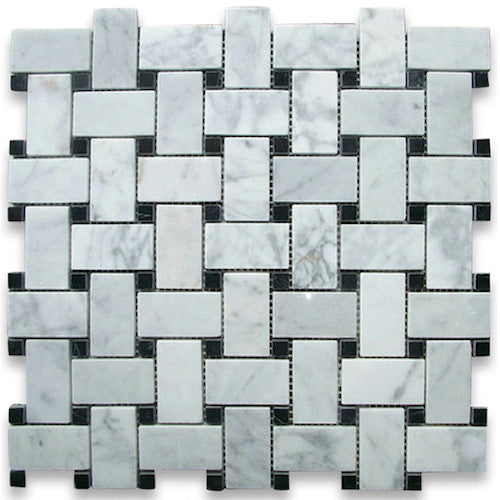 basketweave-carrara-nero-marquina-dot-stone-mosaic-tile-elements-tile-and-stone-pty-ltd-au
