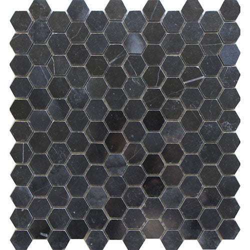 HEXAGON PIETRA GREY 25MM MOSAIC