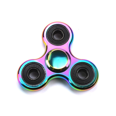 Premium Tri-Spinner, Rainbow Alloy