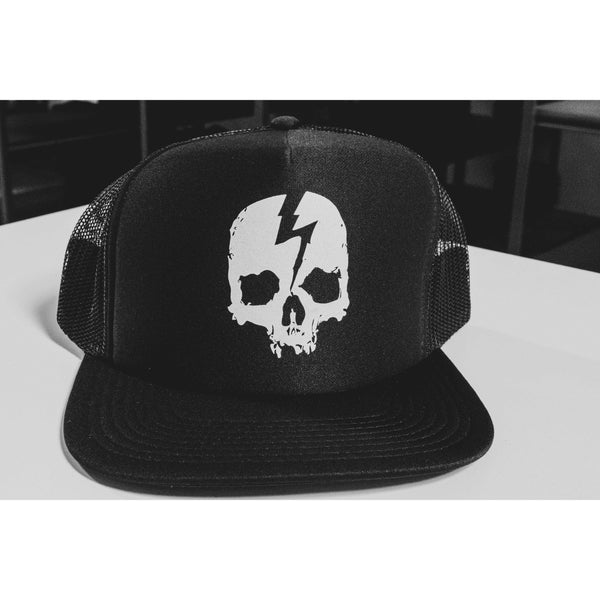 SKULL LOGO TRUCKER HAT - Born Scum Clothing Co