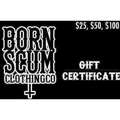 GIFT CARD - Born Scum Clothing Co