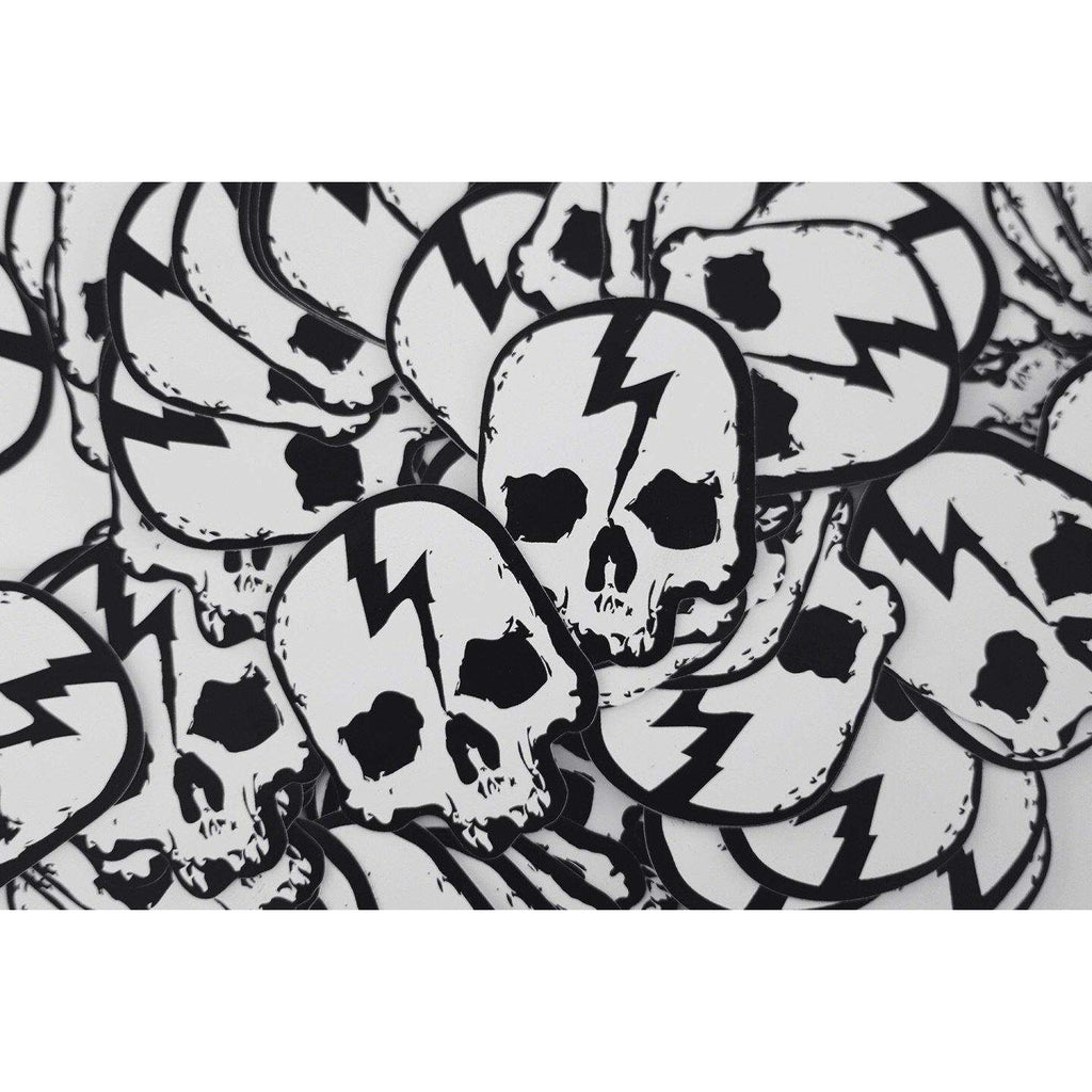 SKULL LOGO STICKER - Born Scum Clothing Co