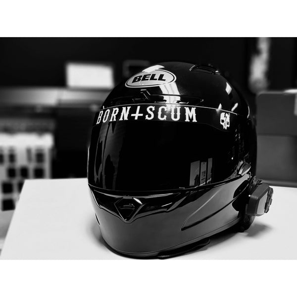 Born Scum Inverted Logo Helmet Visor Sticker - Born Scum Clothing Co
