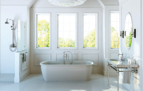 Style and Class define this Winslow bathroom