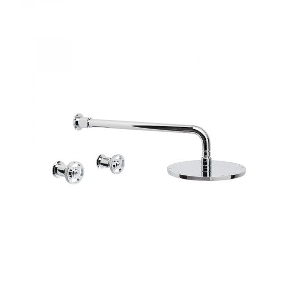 Industrica Shower Set with 225mm Rose (Cross Handles)