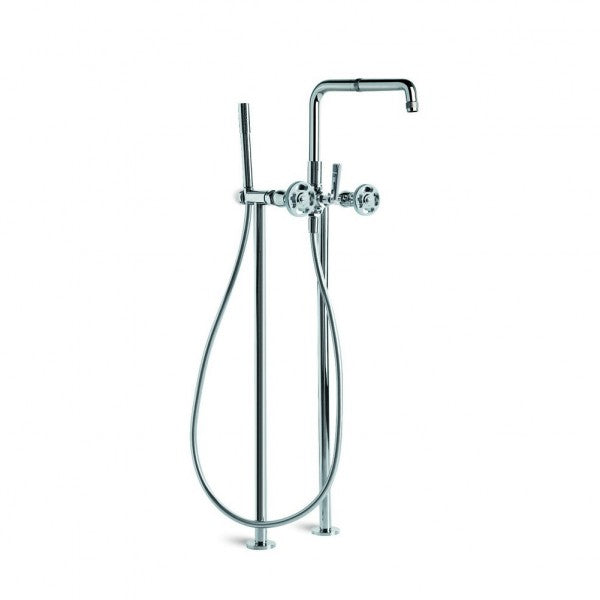 Industrica Bath/Handshower Diverter Set with Stand Pipes (Chrome)