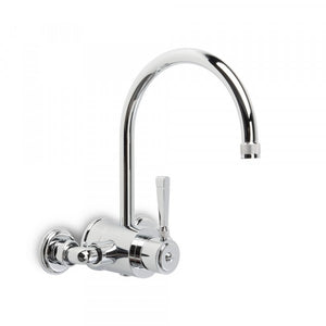 Industrica Exposed Wall Set with Mixer and Swivel Spout (Chrome)