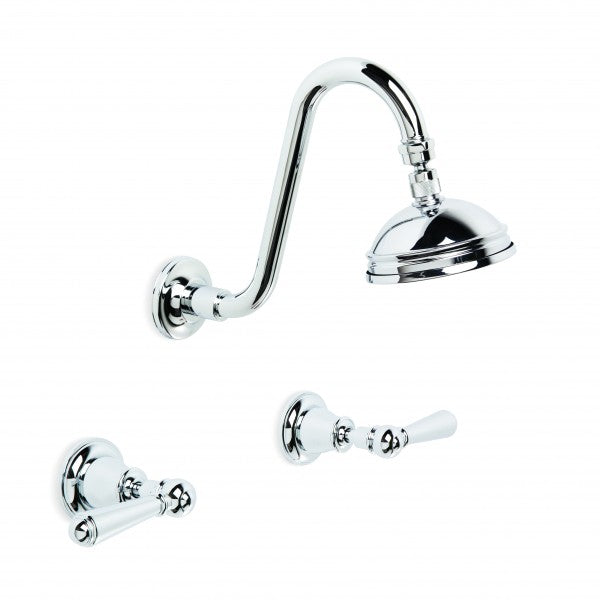 Neu England Shower Set with 100mm Ball Joint Rose (Lever) (Chrome)