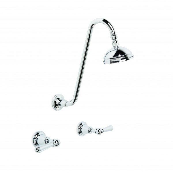 Neu England Shower Set with Extended Arm and 100mm Ball Joint Rose (Lever) (Chrome)