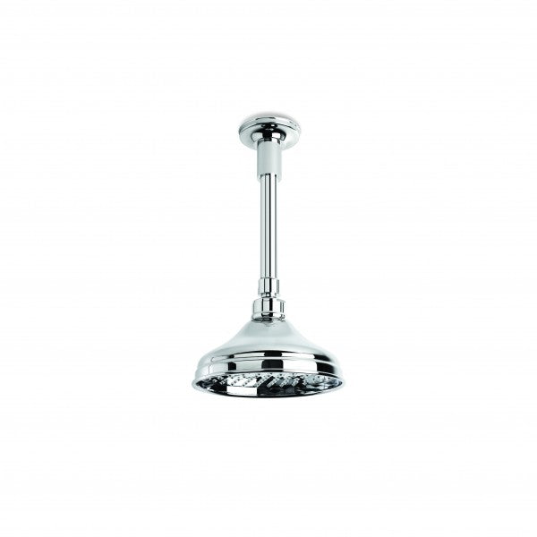 England 150mm Shower Rose with 150mm Ceiling Dropper (Chrome)