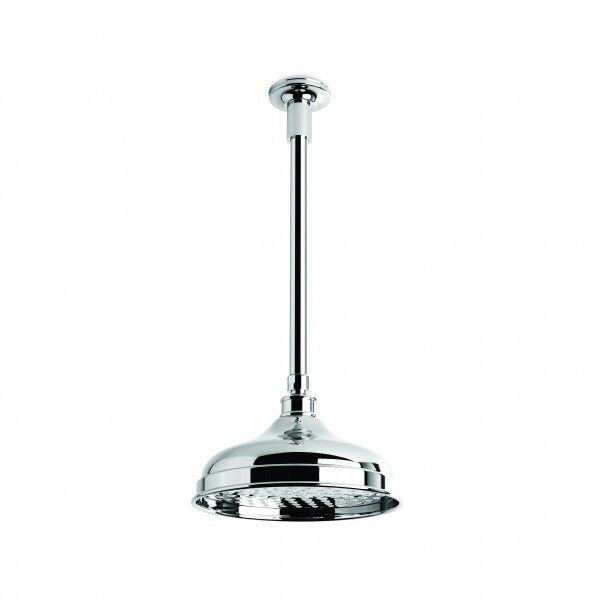 Neu England 200mm Shower Rose with 300mm Ceiling Dropper (Chrome)
