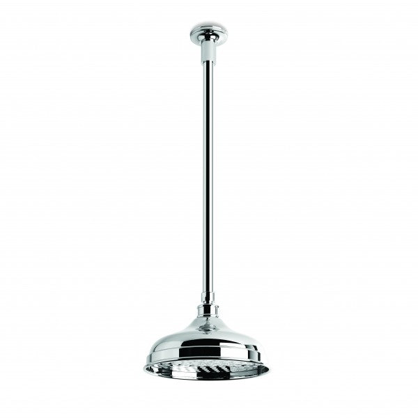 Neu England 200mm Shower Rose with 450mm Ceiling Dropper (Chrome)