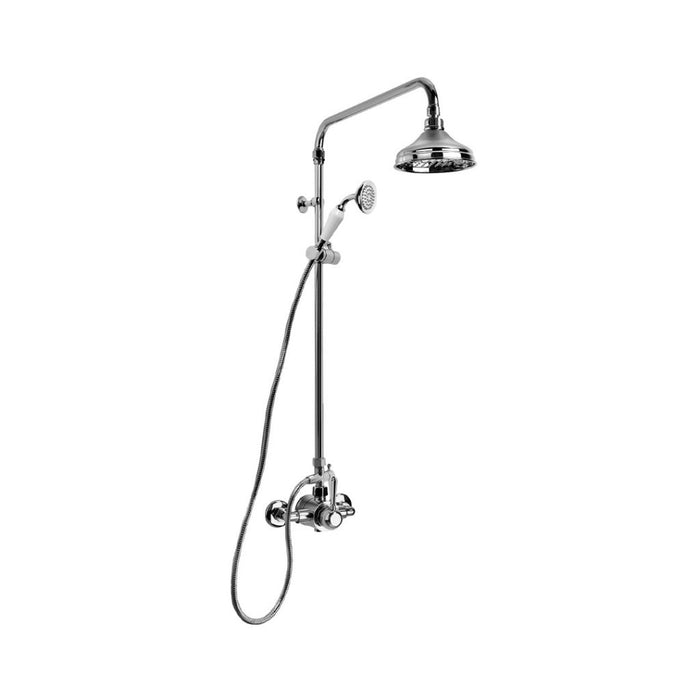 Neu England Shower Mixer Exposed with 150mm Rose, Hand Shower and Diverter (Levers) (Chrome)