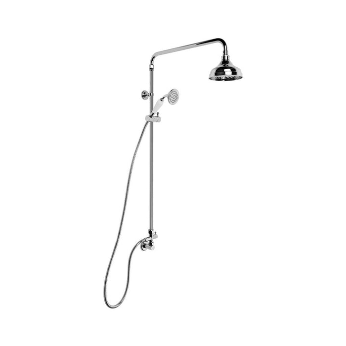 Neu England Overhead Shower with Handshower, Diverter and 150mm Rose (Chrome)