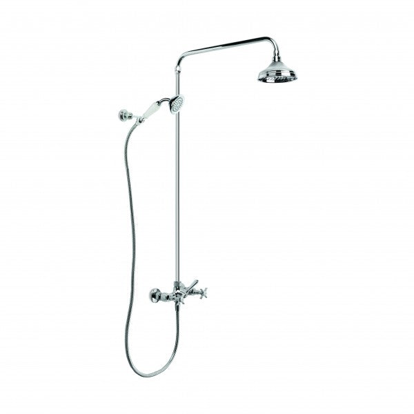 Neu England Exposed Shower Set with 150mm Rose, Handshower and Diverter (Chrome)