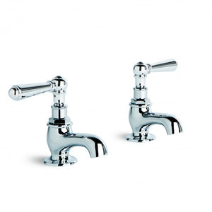 Neu England Pillar Taps Pair (Levers) (Chrome)