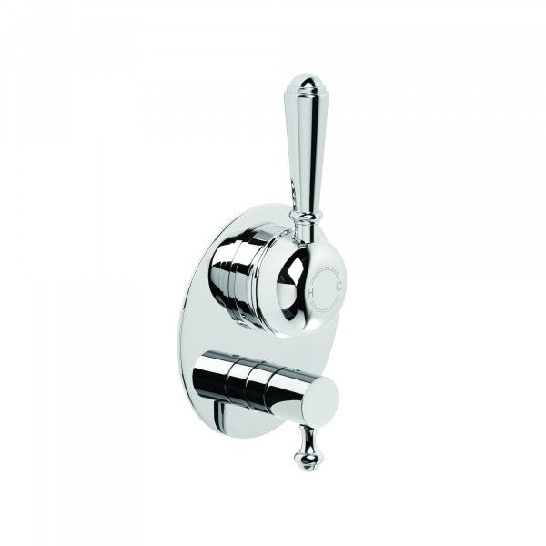 Neu England Shower Bath Mixer Single Lever with Diverter (Chrome)