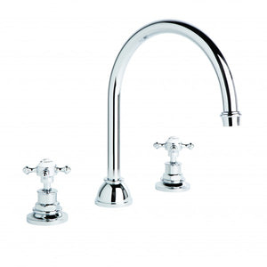 Winslow Spa Set with Curved Swivel Spout (Cross Handles) (Chrome) (Flow Control)