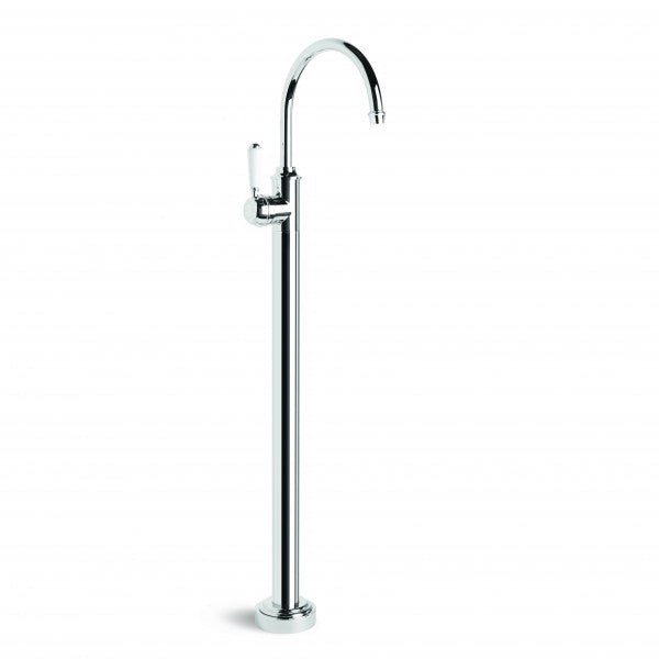 Winslow Bath Mixer Floor Mounted with Swivel Spout (Lever) (Chrome)