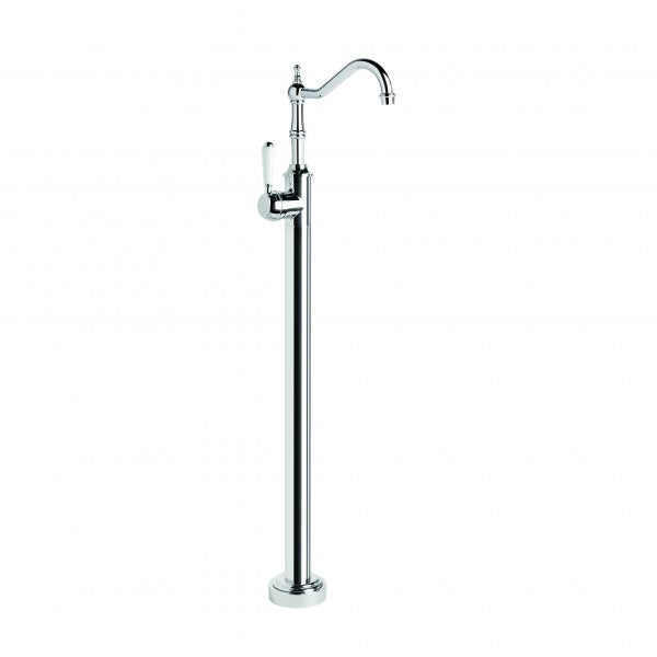 Winslow Bath Mixer Floor Mounted with Traditional Swivel Spout (Lever) (Chrome)