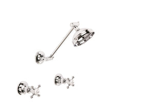 Winslow Adjustable Arm Shower Set with 100mm Rose (Cross Handles) (Chrome)