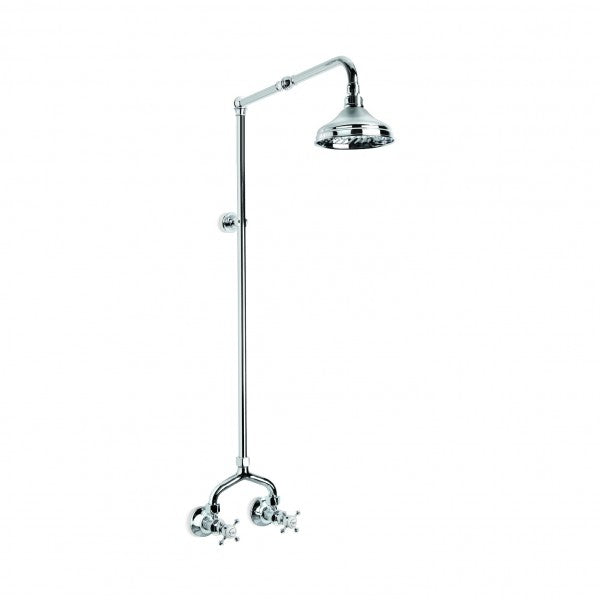 Winslow Exposed Shower Set with 150mm Rose (Cross Handles) (Chrome)