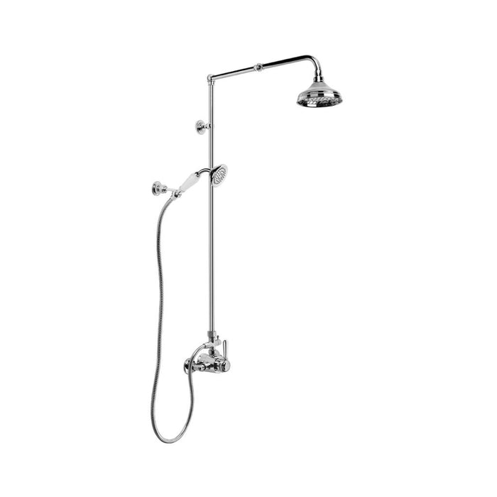 Winslow Mixer Shower exposed with 150mm Rose, Handshower and Diverter (Lever) (Chrome)