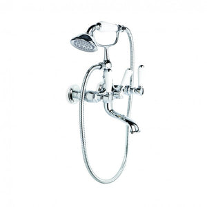 Winslow Bath Mixer with Handshower, Wall Mount (Lever) (Chrome)