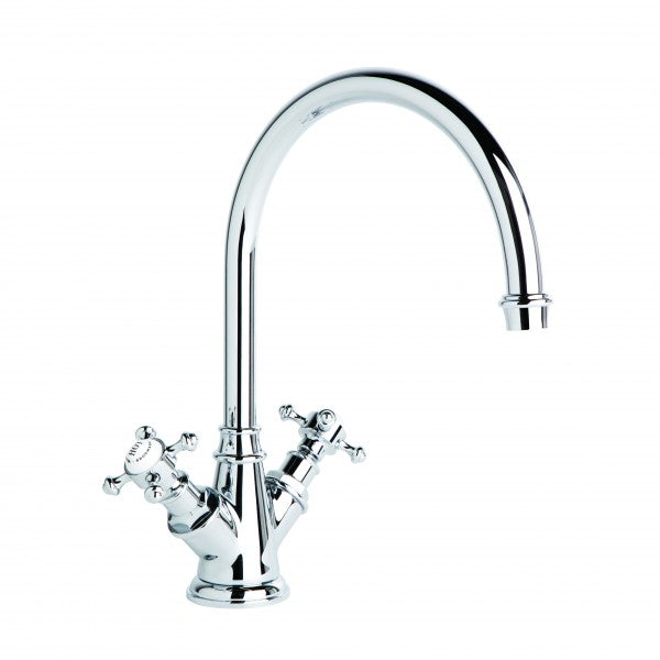 Winslow Kitchen Mixer with Swivel Spout (Cross Handles) (Chrome)