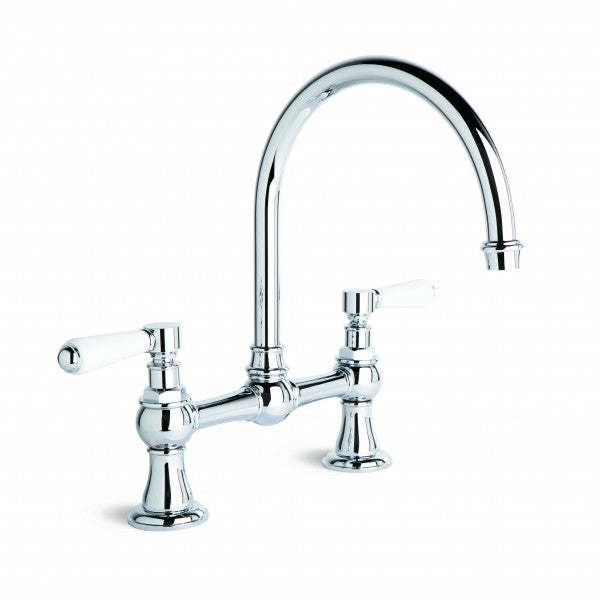 Winslow Kitchen Mixer with Swivel Spout, 140mm Fixed Centres (Lever) (Chrome)