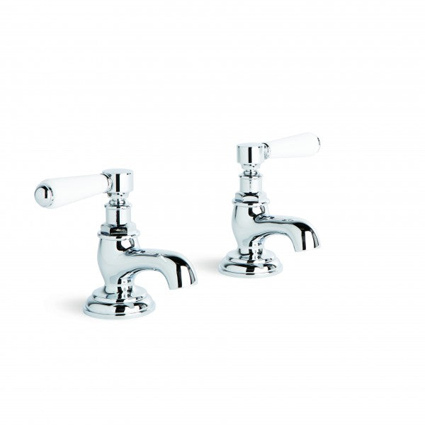 Winslow Pillar Taps, Pair (Lever) (Chrome)