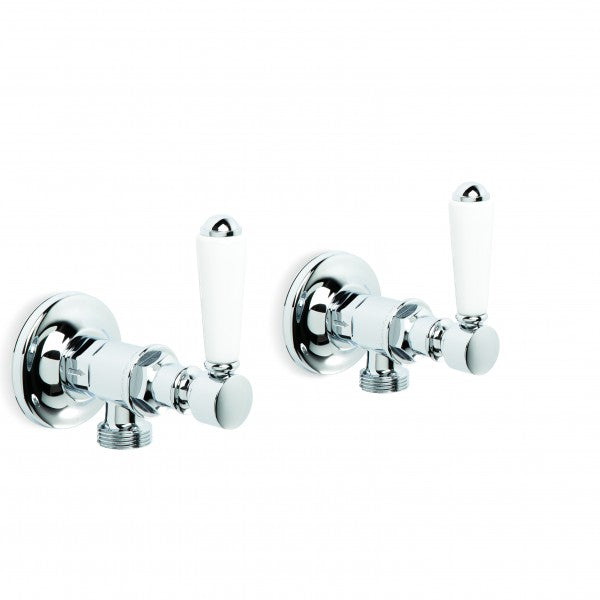 Winslow Washing Machine Taps, Pair (Lever) (Chrome)