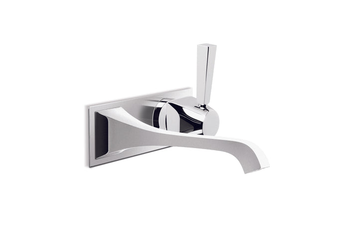Michelangelo Wall Set with 170mm Spout, Mixer and Backplate (Chrome) (Flow Control)