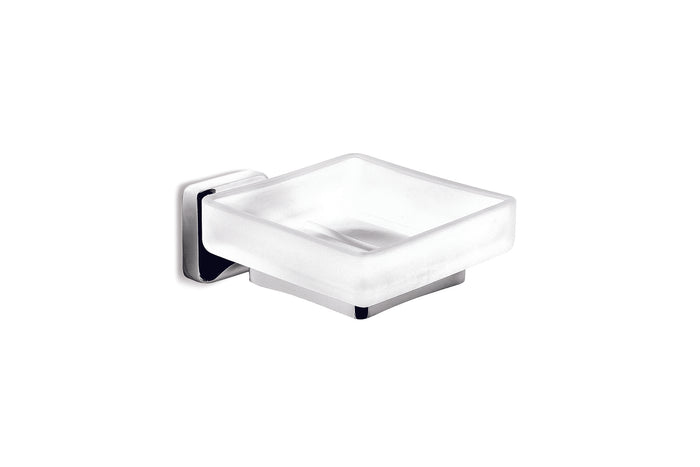 Michelangelo Glass Soap Dish (Chrome)